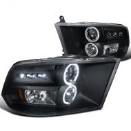 DODGE RAM 1500/2500/3500 2009-2017 BLACK HEADLIGHT SPYDER