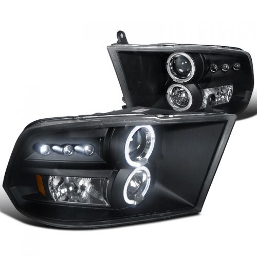 DODGE RAM 1500/2500/3500 2009-2018 BLACK HEADLIGHT