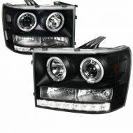 GMC SIERRA 1500/2500/3500 2007-2013 BLACK HEADLIGHT
