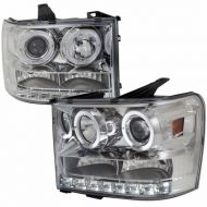 GMC SIERRA 1500/2500/3500 2007-2013 CHROME HEADLIGHT
