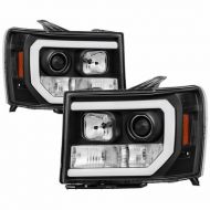 GMC SIERRA 1500/2500/3500 2007-2013 BLACK HEADLIGHT DRL