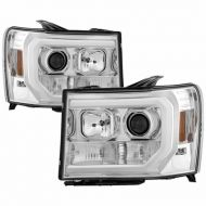 GMC SIERRA 1500/2500/3500 2007-2013 CHROME HEADLIGHT DRL