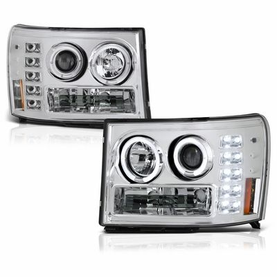 GMC SIERRA 1500/2500/3500 2007-2013 CHROME HEADLIGHT SPYDER