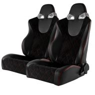 BANC RACING SEAT PAIRE CUIRE PVC/SUEDE